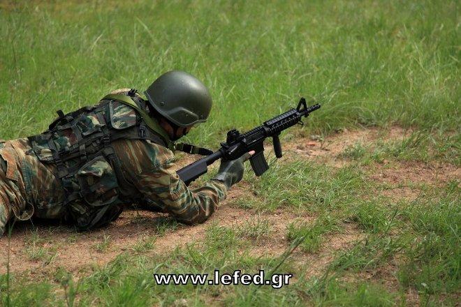 Η εκπαίδευση επικεντρώθηκε στην ομαδική τακτική και δη στην ομάδα πεζικού σε επιχειρήσεις σε δασικό και ημιδασικό περιβάλλον.