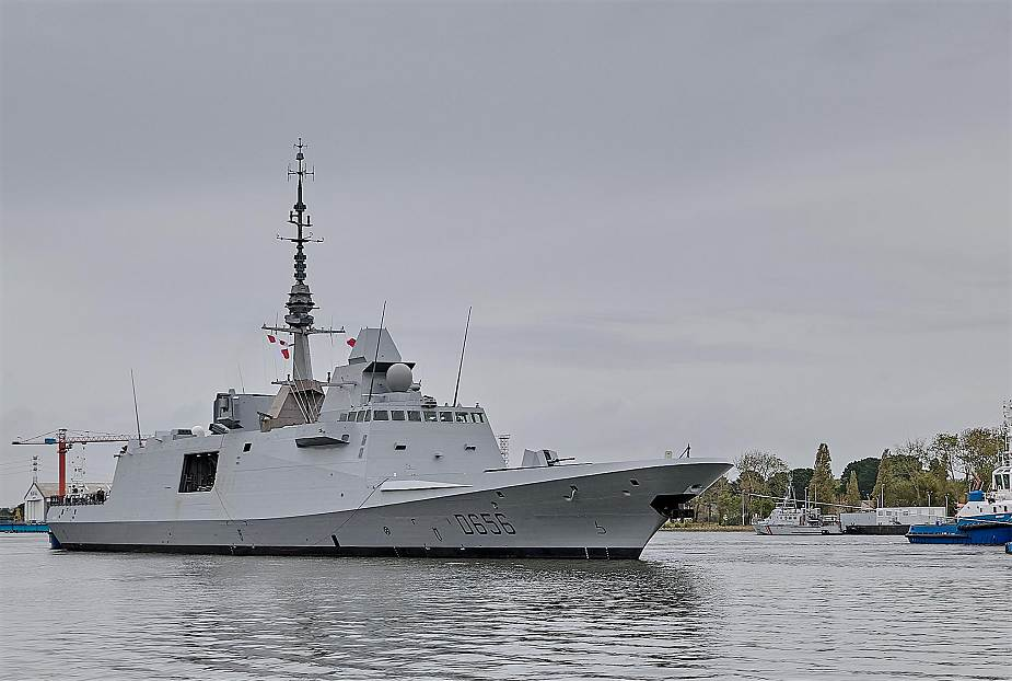 First sea trials for the FREMM DA Alsace air defense frigate for the French Navy 925 001