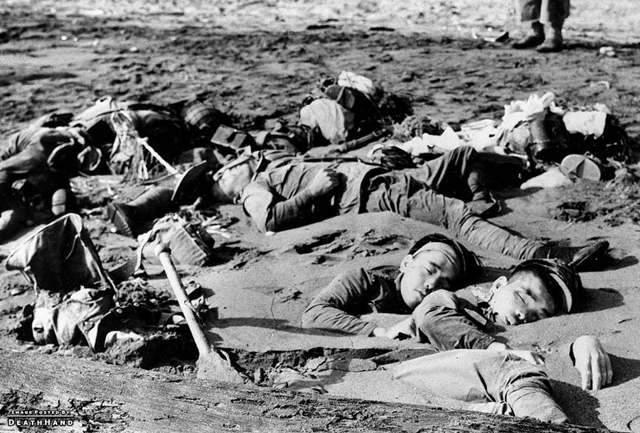 Japanese war dead on Guadalcanal in August 1942