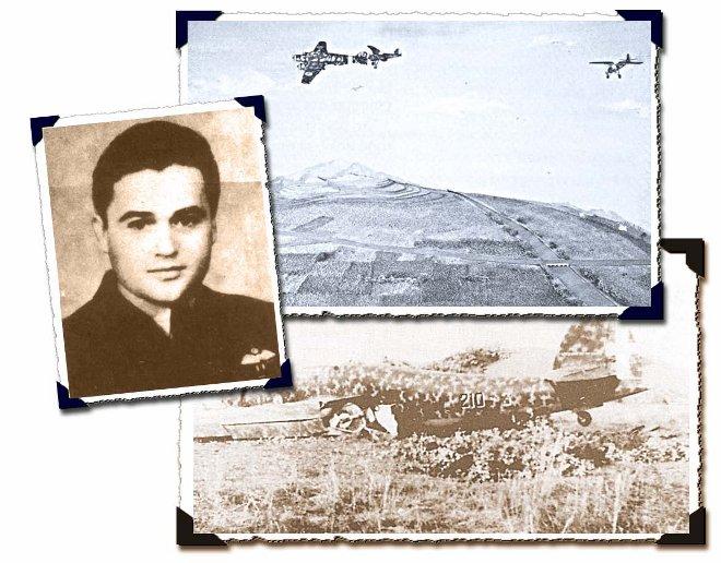 Ο Μαρίνος Μητραλέξης, επιτίθεται ακάθεκτος σε εχθρικό βομβαρδιστικό τύπου Savoia Marchetti, με όλη τη δύναμη του πυρός του και όταν διαπίστωσε ότι εξαντλήθησαν τα πυρομαχικά του, πλησίασε επικίνδυνα το εχθρικό αεροσκάφος αψηφώντας το θάνατο και με την έλικα του κινητήρα του, αποκόπτει το ουραίο πηδάλιο του και το καταρρίπτει κοντά στον Λαγκαδά!