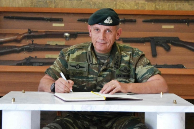 Νέος αρχηγός ΓΕΕΘΑ επελέγη από το ΚΥΣΕΑ ο αντιστράτηγος Κωνσταντίνος Φλώρος, μέχρι σήμερα διοικητής της 1ης Στρατιάς, ο οποίος προάγεται στον βαθμό του στρατηγού.